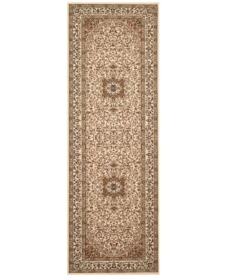 "CLOSEOUT! KM Home Area Rug, Princeton Ardebil Cream 2'7"" x 7'10 Runner Rug"