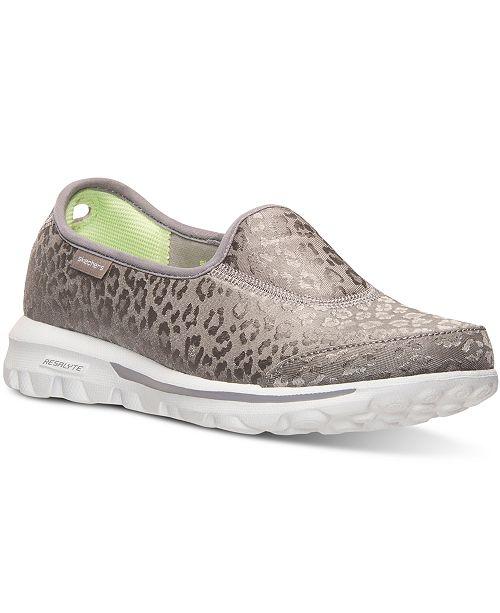 52b07b680907 ... Skechers Women s GOwalk - Safari Slip-On Walking Sneakers from Finish  ...