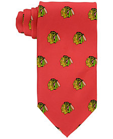 Eagles Wings Chicago Blackhawks Repeat Logo Tie