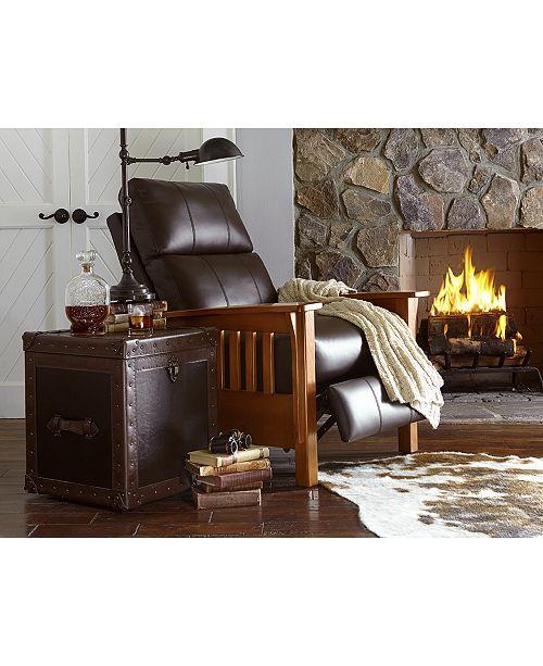 Furniture Harrison Leather Pushback Recliner Reviews Furniture