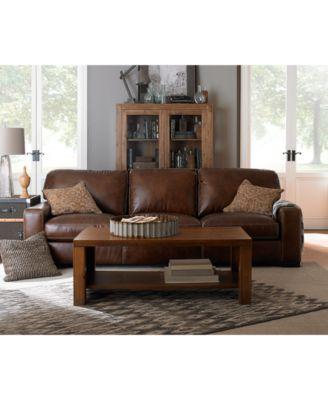 valyn leather living room furniture - Macys Living Room Furniture