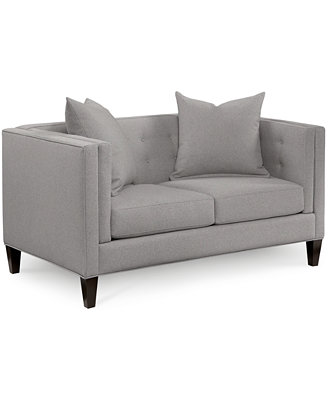 """Braylei 61""""  Fabric Track Arm Loveseat, Created For Macy's by Braylei Track Arm Sofa Collection, Created For Macy's"""