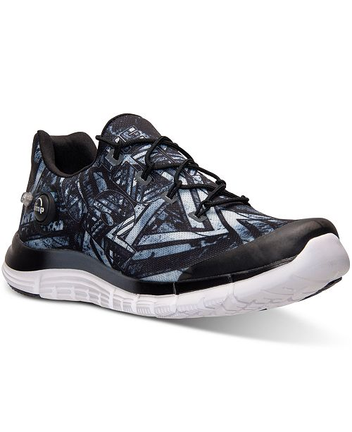 00b88ac9625 Reebok. Men s ZPump Fusion Geo Running Sneakers from Finish Line. Be the  first to Write a Review. main image ...