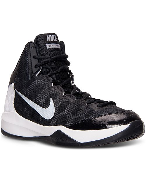 new concept 7c4da f751d ... Nike Men s Zoom Without A Doubt Basketball Sneakers from Finish ...
