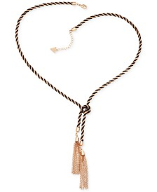 GUESS Two-Tone Knotted Tassle Necklace