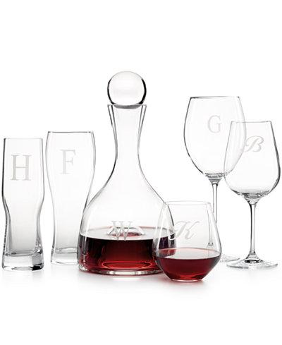 Lenox Tuscany Monogram Collection All Glassware