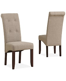Verona Set of 2 Tufted Parson Chairs, Direct Ships for $9.95!