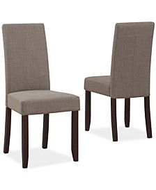 Avery Fabric Set of 2 Parson Chairs, Direct Ships for $9.95!