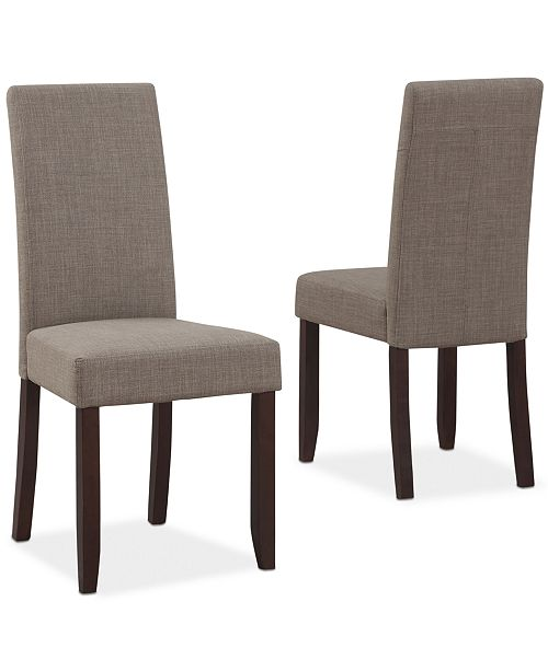 Simpli Home Avery Fabric Set of 2 Parson Chairs, Direct Ships for $9.95!