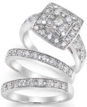 Diamond Engagement Ring Bridal Set (2 ct. t.w.) in 14k White Gold
