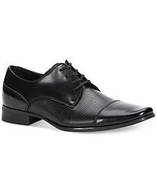 Calvin Klein Men's Bram Diamond Textured Oxfords