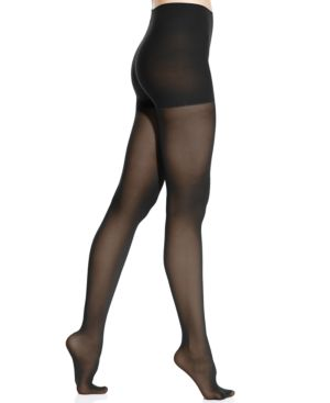 DKNY Women'S Comfort Luxe Semi Opaque Control Top Tights in Black