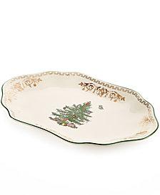 Spode Christmas Tree Gold Oval Platter