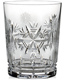 Waterford Drinkware, Snowflake Wishes for Health Glenmore Double Old Fashioned Glass