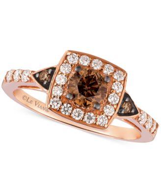 Le Vian Chocolatier Chocolate Diamond and White Diamond Ring in 14k
