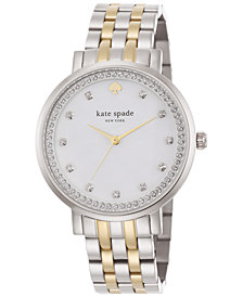 kate spade new york Women's Monterey Two-Tone Stainless Steel Bracelet Watch 38mm 1YRU0823