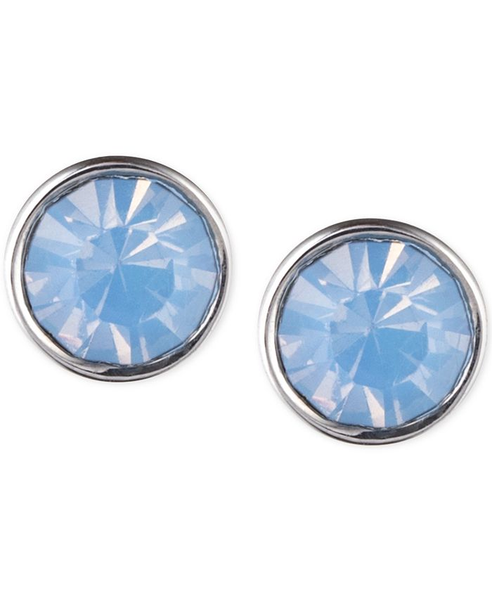 lonna & lilly - Silver-Tone Glass Stone Earrings