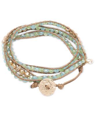 Glass Bead Wrap-Style Bracelet