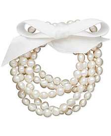 Honora Style Cultured Freshwater Pearl 5-Piece Stretch Bracelet Set (7-8mm)