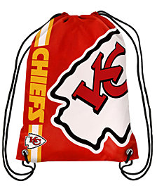 Forever Collectibles Kansas City Chiefs Big Logo Drawstring Bag