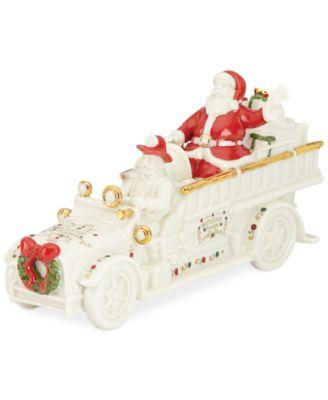 Mistletoe Park Fire Truck with Santa, Created for Macy's