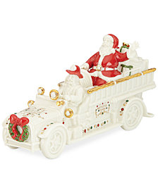 Lenox Mistletoe Park Fire Truck with Santa, Created for Macy's