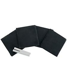 Set of 4 Slate Coasters and Chalk