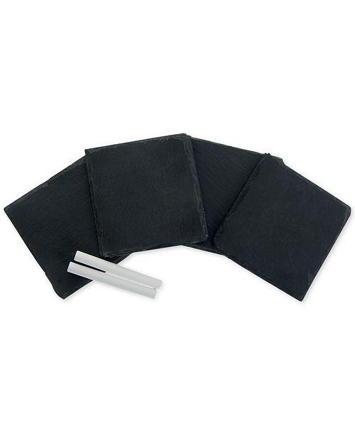 Thirstystone Set of 4 Slate Coasters and Chalk