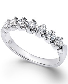 Certified Diamond Scalloped Ring (1/2 ct. t.w.) in 14k White Gold