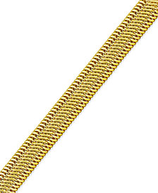 Italian Gold Woven Mesh Bracelet in 14k Gold