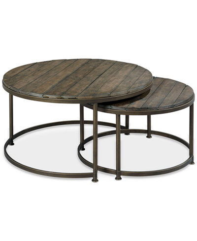 Link Wood Set of 2 Round Nesting Coffee Tables - Link Wood Set Of 2 Round Nesting Coffee Tables - Furniture - Macy's