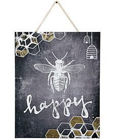 Canvas Bee Happy Wall Art