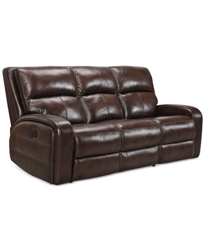 Macys Power Motion Leather Sofa