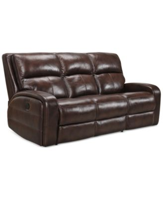 Hannon Leather Power Sofa, Created For Macyu0027s