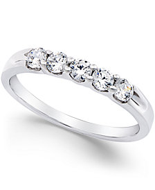 Diamond 5-Stone Band in Platinum (1/2 ct. t.w.)
