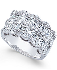 Multi-Row Diamond Ring in 14k White Gold (1-9/10 ct. t.w.)