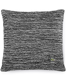 "Lacoste Home Chunk Knit Space Dye 18"" Square Decorative Pillow"