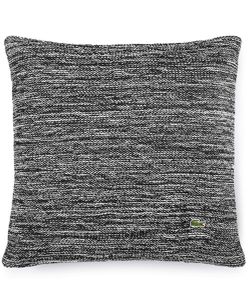 """Lacoste Home Chunk Knit Space Dye 18"""" Square Decorative Pillow"""