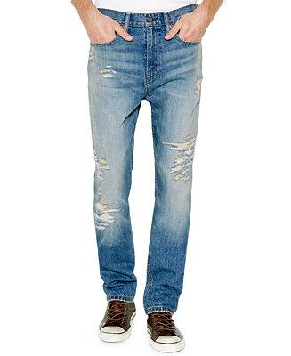 Levi S Men S 514 Straight Fit Ripped Jeans Jeans Men