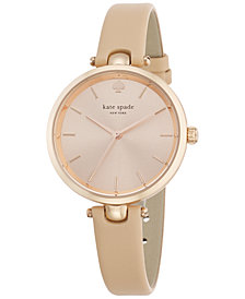 kate spade new york Women's Holland Vachetta Leather Strap Watch 34mm 1YRU0812