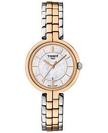 Tissot Women's Swiss Flamingo Two-Tone Stainless Steel Bracelet Watch 26mm T0942102211100