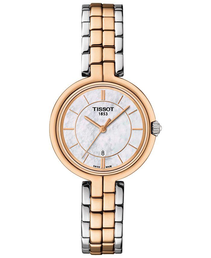 Tissot - Women's Swiss Flamingo Two-Tone Stainless Steel Bracelet Watch 26mm T0942102211100