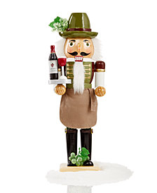 "Holiday Lane 14"" Wood Wine Sommelier Nutcracker, Created for Macy's"