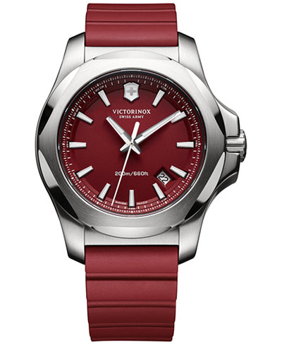 Victorinox Swiss Army Men's I.N.O.X. Red Rubber Strap Watch 43mm 241719.1