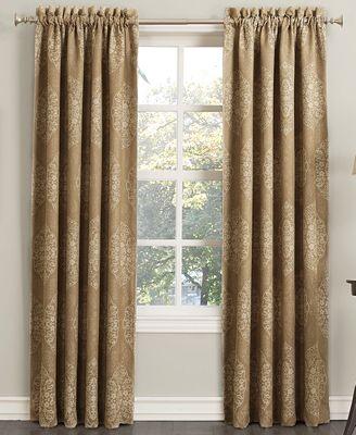 CLOSEOUT! Sun Zero Paige Woven Damask Room Darkening Curtain 52