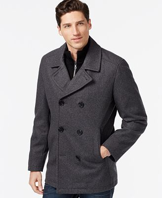 INC International Concepts Double-Breasted Peacoat - Coats