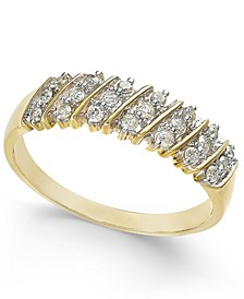 Diamond Multi-Row Band (1/5 ct. t.w.) in 10K White or Yellow Gold (Sizes 5-8)