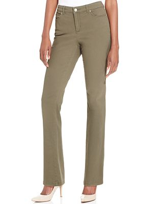 Charter Club Petite Straight-Leg Twill Pants, Only at Macy's ...
