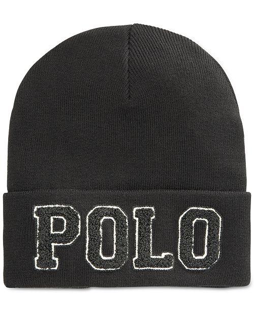 aedd676bf9a Polo Ralph Lauren Chenille Varsity Beanie - Hats
