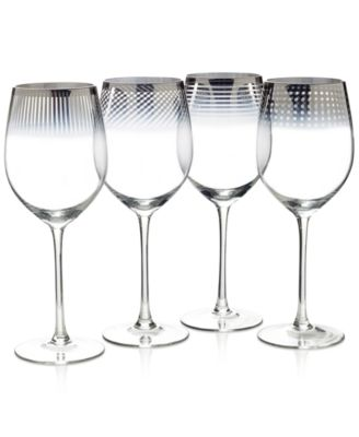 Cheers Collection Metallic Ombré Wine Glasses, Set Of 4